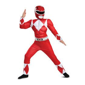 Power Rangers - Mighty Morphin Red Ranger Classic Muscle Child Costume