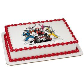 Power Rangers Ninja Steel Quarter Sheet Edible Cake Topper (Each)