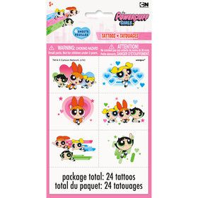 Powerpuff Girls Tattoo Sheets (4 Count)