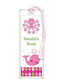 Preppy Pink Party Personalized Bookmark (each)