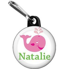 Preppy Pink Party Personalized Mini Zipper Pull (each)
