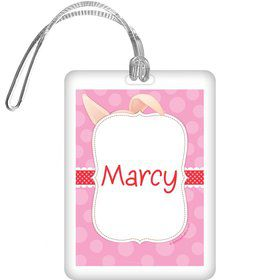 Pretty Pig Personalized Bag Tag (each)