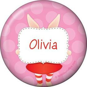 Pretty Pig Personalized Button (each)
