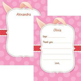 Pretty Pig Personalized Thank You Note (each)