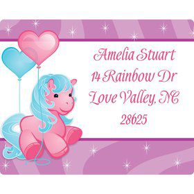 Pretty Pony Personalized Address Label
