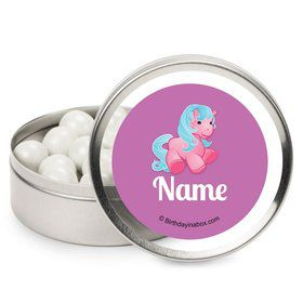 Pretty Pony Personalized Candy Tins (12 Pack)