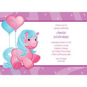 Pretty Pony Personalized Invitation (each)