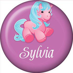 Pretty Pony Personalized Mini Button (each)