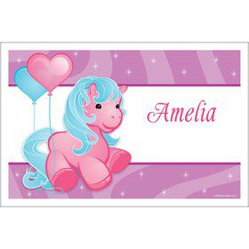 Pretty Pony Personalized Placemat (each)