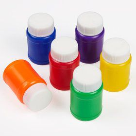 "Primary Color Mini 2"" Bubbles 1oz. (18 Pack)"