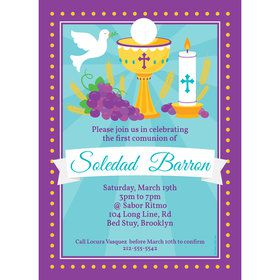 Primera Communion Personalized Invitation (Each)