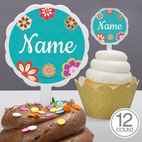 Princesa Personalized Cupcake Picks (12 Count)