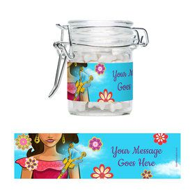 Princesa Personalized Glass Apothecary Jars (12 Count)