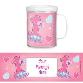 Princess 1st Birthday Personalized Favor Mugs (Each)