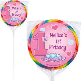 Princess 1st Birthday Personalized Lollipop (PACK OF 12)