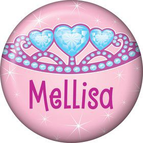 Princess 1st Birthday Personalized Mini Button (each)