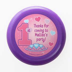 Princess 1st Birthday Personalized Mini Discs (Set of 12)