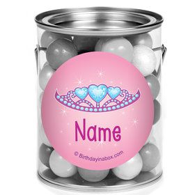 Princess 1St Birthday Personalized Mini Paint Cans (12 Count)