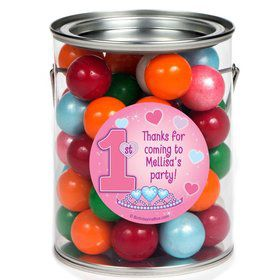 Princess 1st Birthday Personalized Paint Can Favor Container (6 Pack)