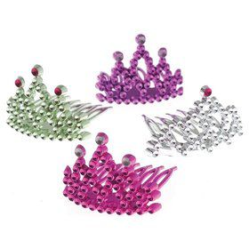 Princess Assorted Tiara Combs (12 Pack)
