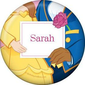Princess & Beast Personalized Button (each)