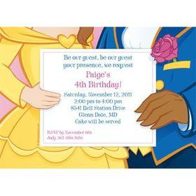 Princess & Beast Personalized Invitation (each)