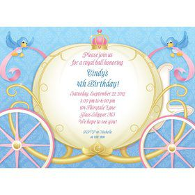 Princess Coach Personalized Invitation