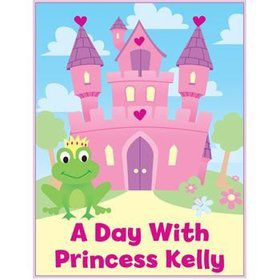 Princess Personalized Coloring Book (each)