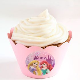Princess Personalized Cupcake Wrappers (Set of 24)