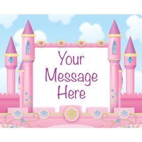 Princess Personalized Rectangular Stickers (Sheet of 15)