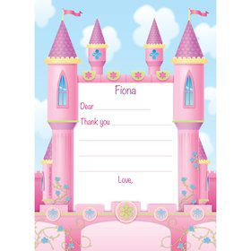 Princess Personalized Thank You Note (each)