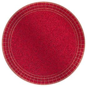 Prismatic Red Lunch Plates (8)
