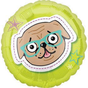 "Pug Celebration 18"" Balloon (1)"