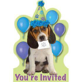 Puppy Party Invitations (8-pack)