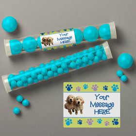 Puppy Party Personalized Candy Tubes (12 Count)