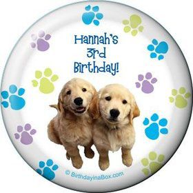 Puppy Party Personalized Magnet (each)