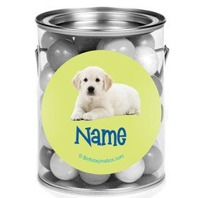 Puppy Party Personalized Mini Paint Cans (12 Count)
