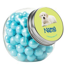 Puppy Party Personalized Plain Glass Jars (10 Count)