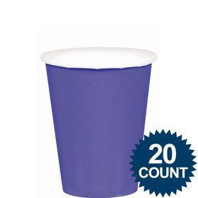 Purple 9oz. Paper Cups (20 Pack)
