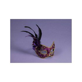 Purple and Gold Masquerade Mask