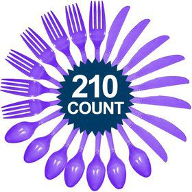 Purple Cutlery Set - Value Pack (210 Pack)