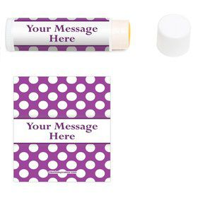 Purple Dots Personalized Lip Balm (12 Pack)