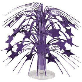 "Purple Foil 8 1/2"" Cascade Centerpiece (Each)"