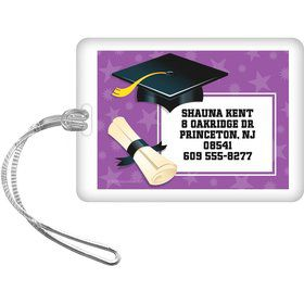 Purple Grad Personalized Luggage Tag (Each)