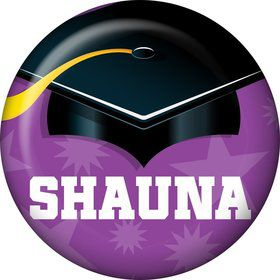 Purple Grad Personalized Mini Magnet (Each)