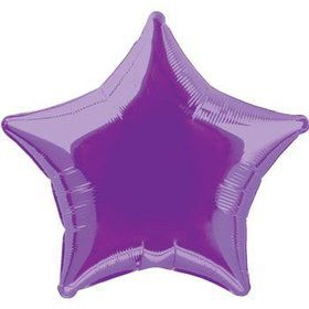 Purple Mylar Star Balloon (each)
