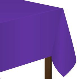 Purple Plastic Table Cover (Each)