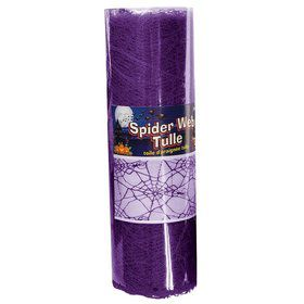 Purple Spider Web Tulle 5Yds
