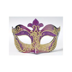 Purple With Gold Trim Mask