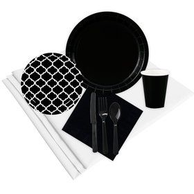 Quatrefoil Black Party Pack